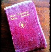 This Gideon Bible was used to explain salvation to me in 1964